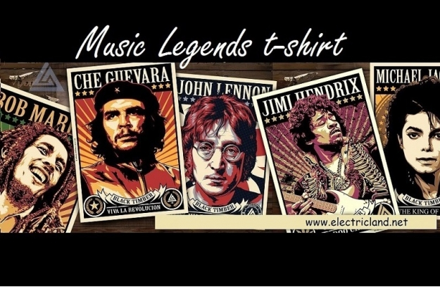 t-shirt  music legends